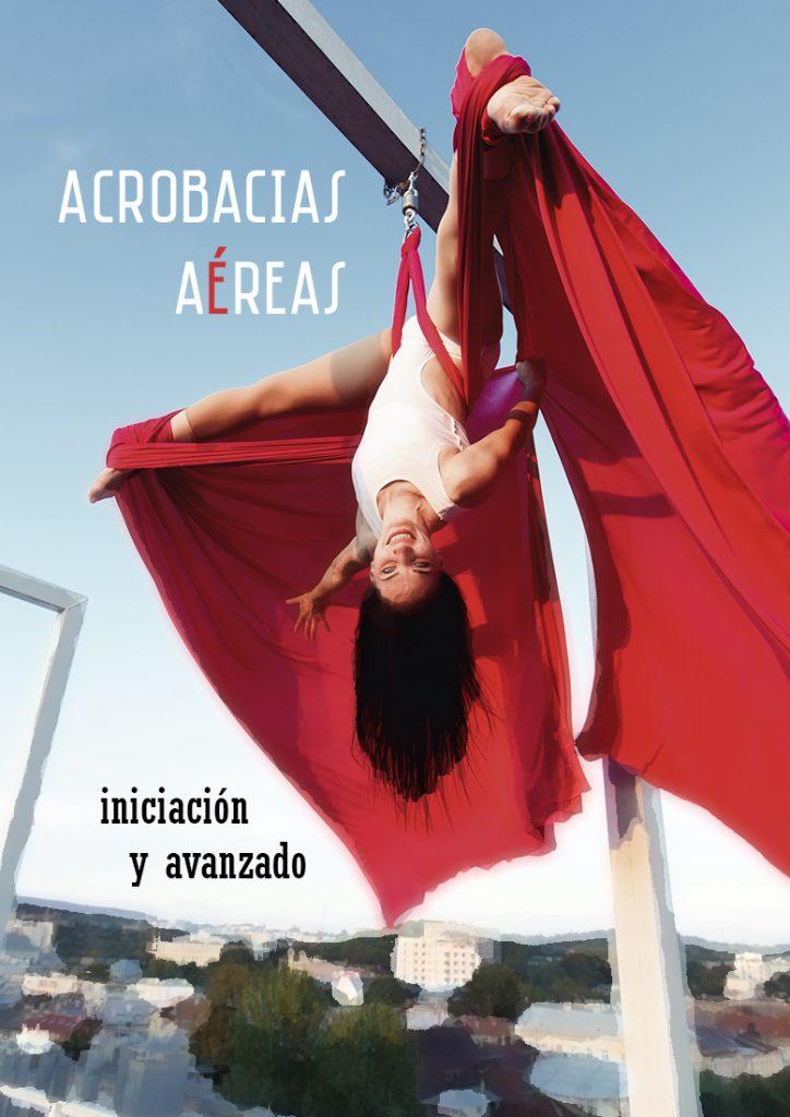 cartel del taller de acrobacias aéreas