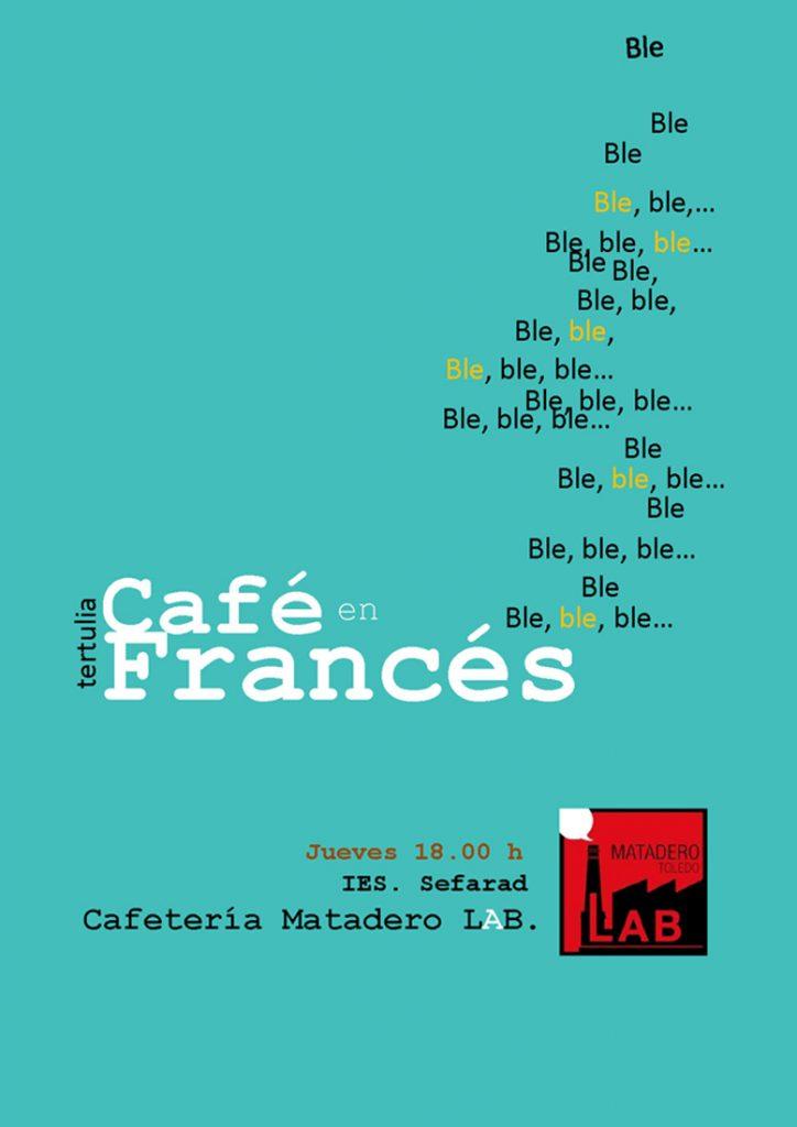 cartel del taller café en francés