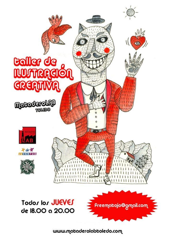 cartel taller ilustración creativa