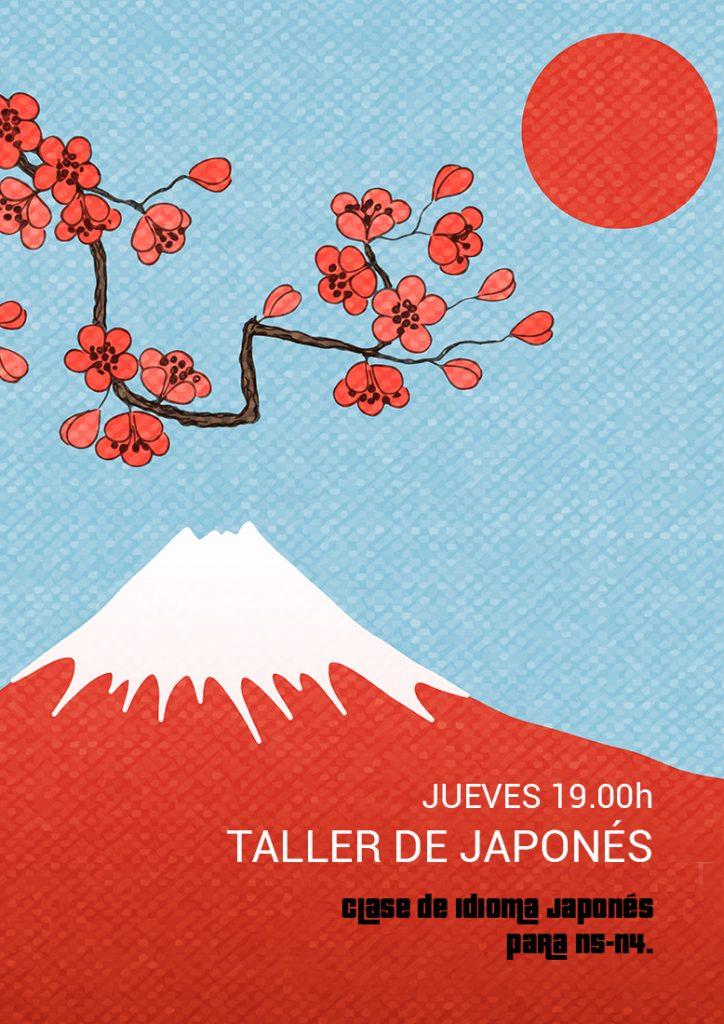 cartel de taller de japonés