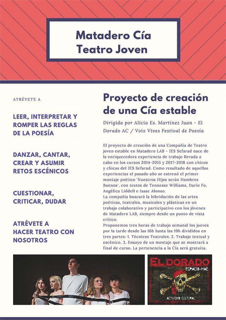 cartel del taller de teatro joven